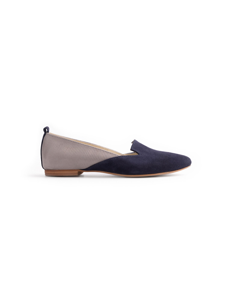 BISMIL NAVY BLUE elastic side boots