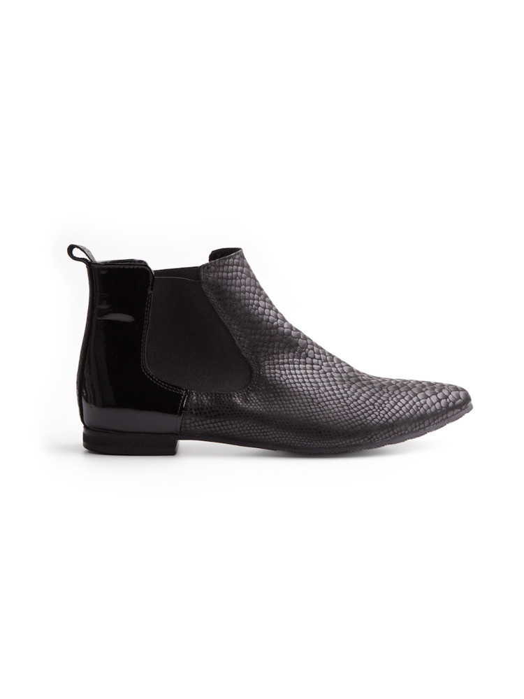 BISMIL GREY elastic side boots