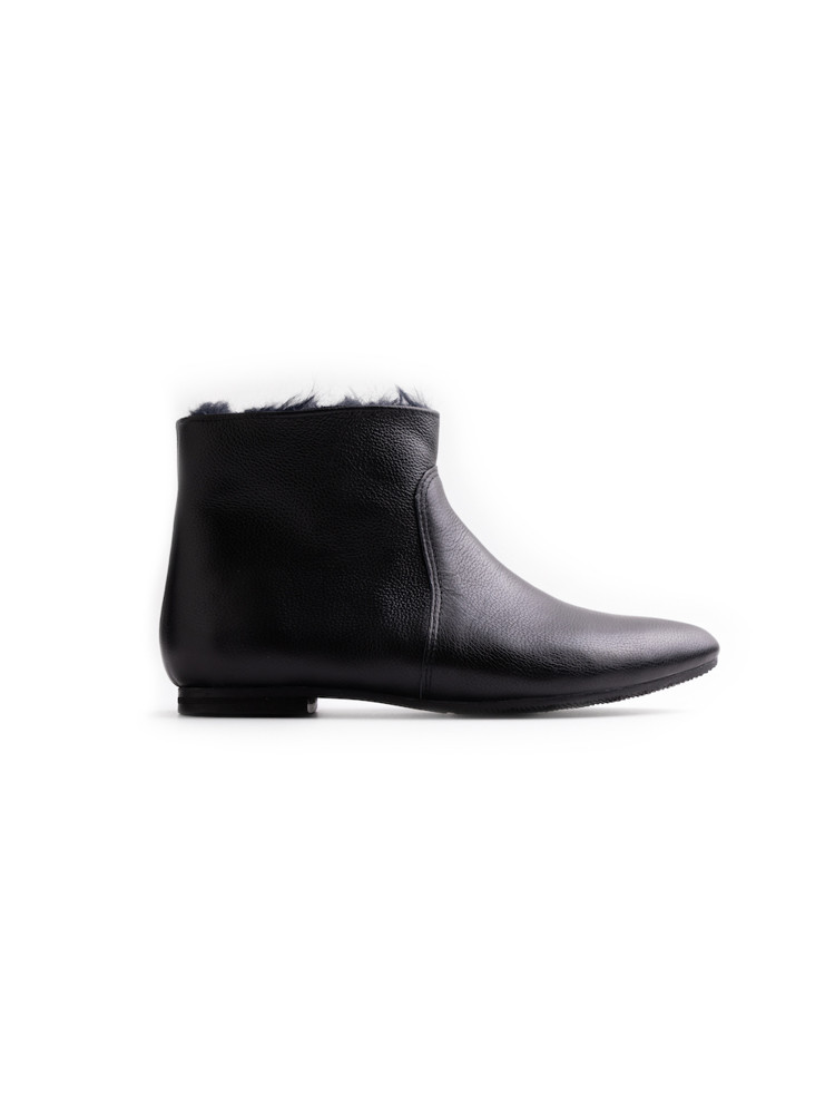 NARNI BLACK elastic sided boots